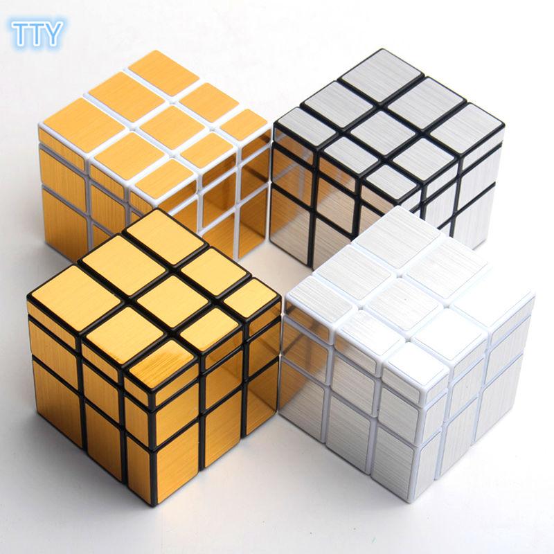 Hot sale 4colors Mirror Magic Cube Cast Coated Twist
