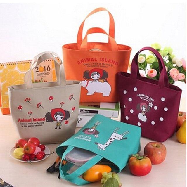 VILEAD Portable Waterproof Insulation Bag Pula Girl Oxford Fabric Lunch Bag Aluminum Film Picnic Bag Creative Laptop Bag 28*35cm