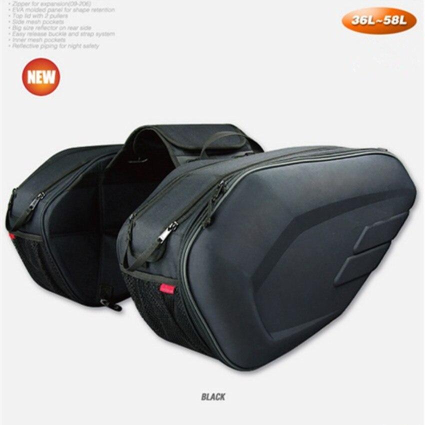 LARATH Promotion Sa212 Motorcycle Saddle Bag Bags Motorbike Side Helmet Oxford Riding Travel Bags + Rain Cover One Pair кофры komine