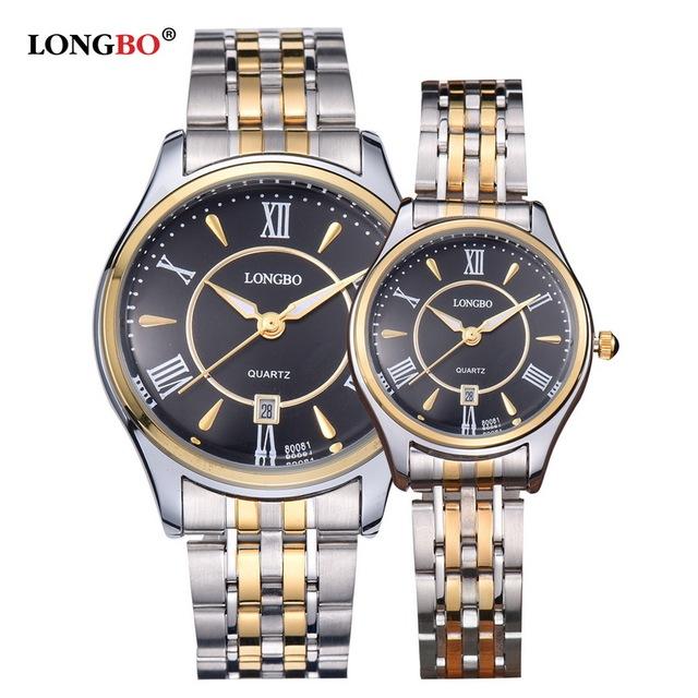 Moda de Luxo Amantes Casal Relógios de Quartzo 30 M À Prova D' Água Calendário Romano OP001 Vestido Business Casual Relógio de Pulso Das Mulheres Dos Homens