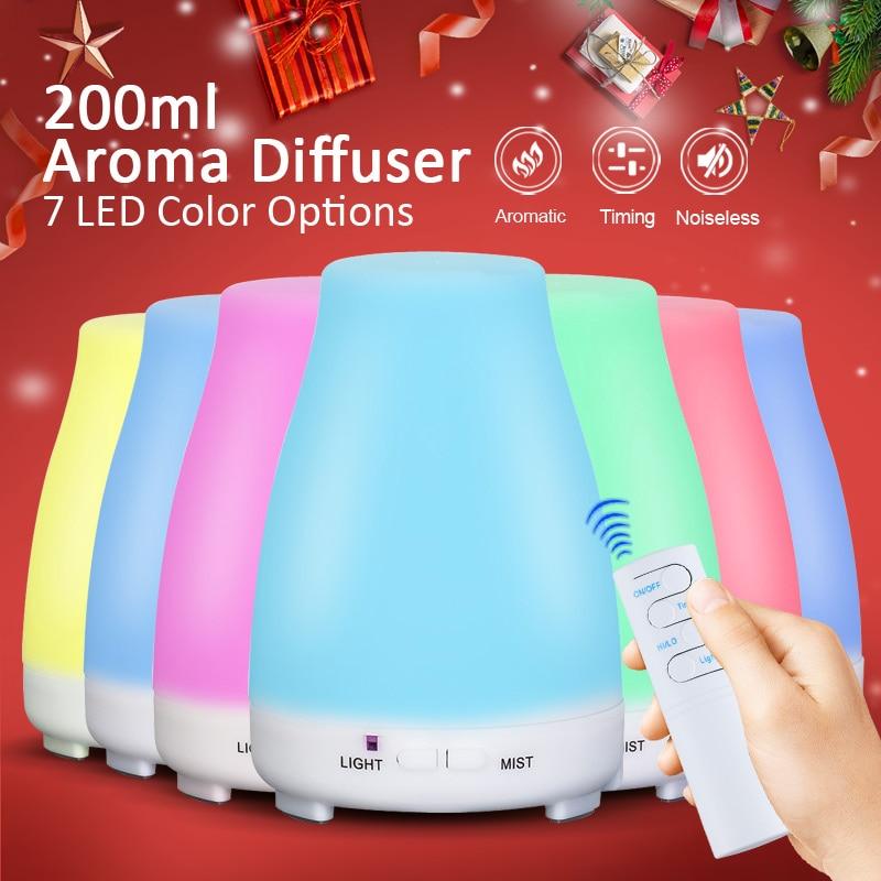KBAYBO аромат эфирного масла диффузор ароматерапия воздуха humidfier холодного тумана с дистанционного управления свет в ночь для дома