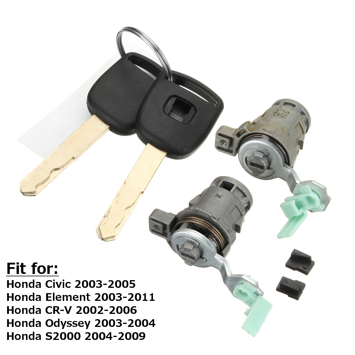 Left&Right Door Ignition Cylinder Lock W/Keys for Honda Civic Element for CR-V for Odyssey S2000 72185S9A013 72185-S9A-013 for renault kangoo complete lock set ignition switch left right door lock barrel cylinder with 2 same keys page 2