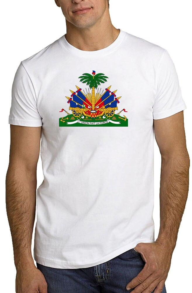 Haiti Coat of Arms T Shirt Haitian Caribbean Republic *ALL SIZES & NEW*