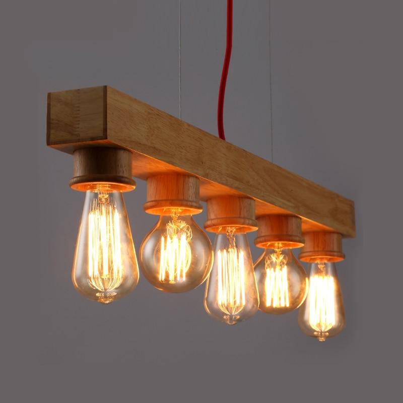 Pure Natural Wood Makes Pendant lamp 5 Light Wood Lamp Modern Pendant Lamp Vintage Pendant Light bande réfléchissante scooter orange pour fourche