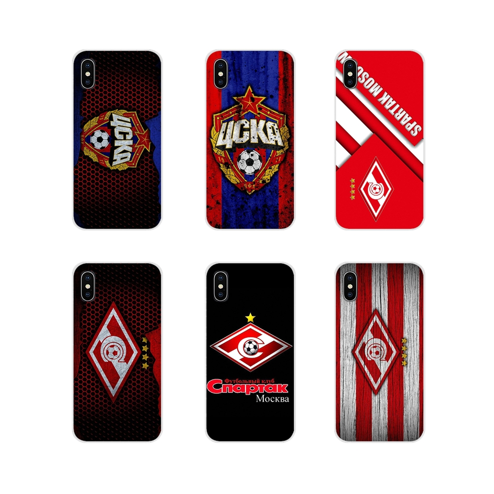 For Apple iPhone X XR XS MAX 4 4S 5 5S 5C SE 6 6S 7 8 Plus ipod touch 5 6 Russian Moscow football Accessories Phone Cases Covers