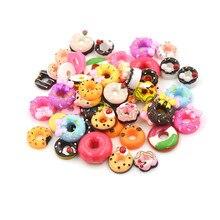 10Pcs Dollhouse Food Resign DIY Phone Case Decor Crafts Miniature Resin Doughnut