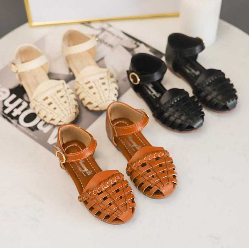 2019 Girls Summer Sandals Baby Girl Toddler Kids Shoes With Sweet Princess Soft Childrens Beach Shoes Black Beige Brown2019 Girls Summer Sandals Baby Girl Toddler Kids Shoes With Sweet Princess Soft Childrens Beach Shoes Black Beige Brown
