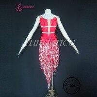 L-1265 도매 및 소매 살사 댄스 드레스 섹시한 댄스 fringle 라틴어 드레