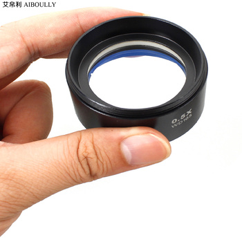 0.5X reduction objective For stereo microscope 2X magnification lens Stereoscopic auxiliary lens increase or decrease Working