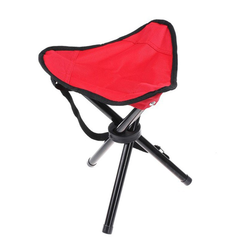 Camping Folding Fishing Chairs Multifunctional Lightweight Home Stool & Ottoman Outdoor Take Away Red Color camping world sosisson