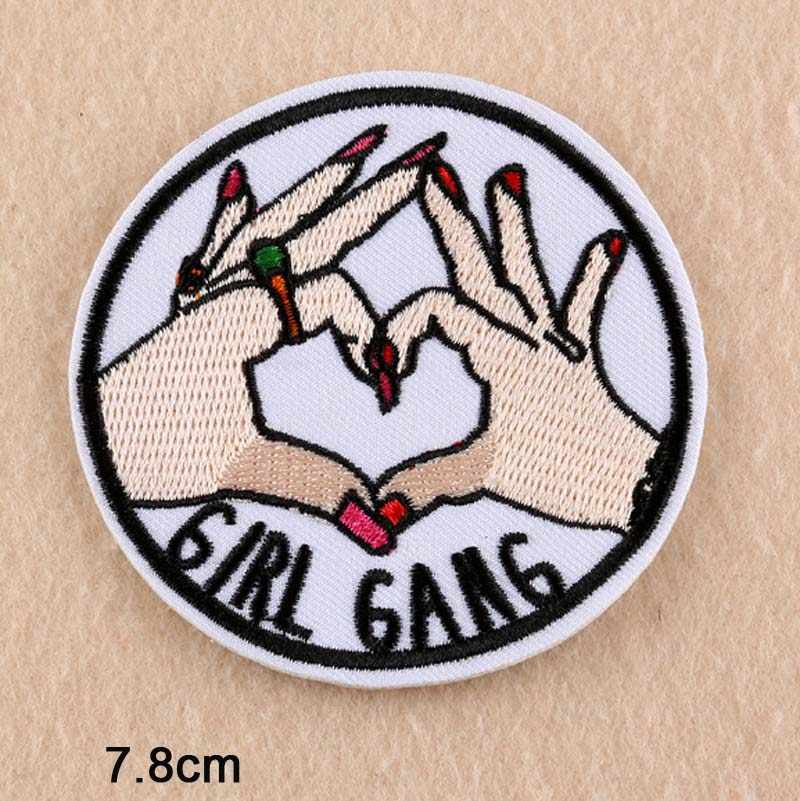 Beautiful Finger Punk Iron On Patch Clothes Patch For Clothing Women Embroidered Patch Clothes Stickers
