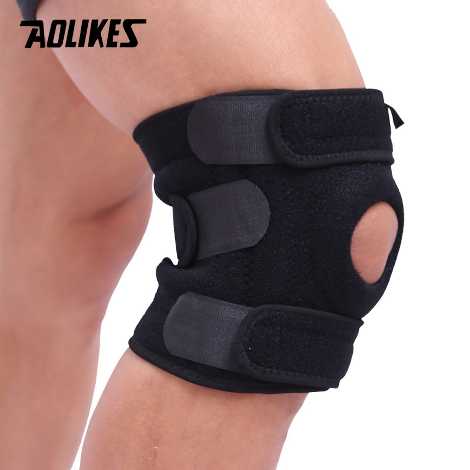 AOLIKES 1PCS Knee Pad Mountaineering Support Cycling Knee Protector Mountain Bike Sports Safety Kneepad Brace