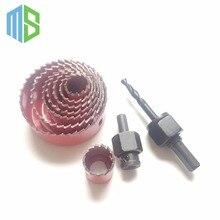 8pcs 3/4″-2-1/2″ (19mm-64mm) Bi-metal hole saw Core drill bit Power tools Metal Drilling Drill bit Woodworking Wood Drilling