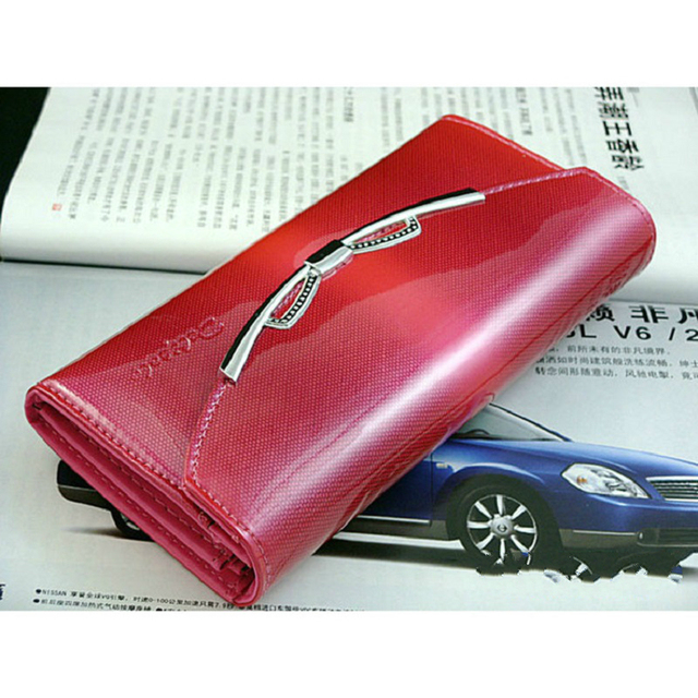 2016 New  Korean Casual Patent Leather Premium Women's Long Wallet Bright Skin Hand Bag