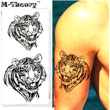 M-Theory 3D Tiger Body Choker Makeup Temporary 3d Tattoos Sticker Henna Flash Tatoos Tatouage Body Arts Tatto Tatuagem Sticker