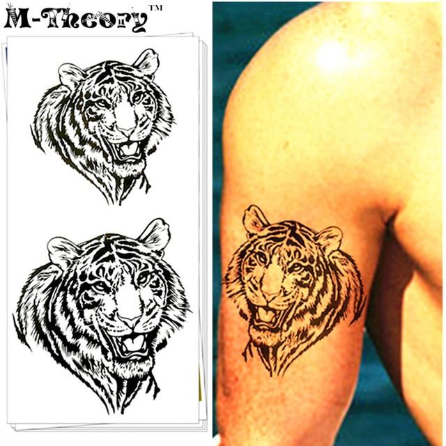 M-Theory 3D Tiger Body Choker Makeup Temporary 3d Tattoos Sticker Henna Flash Tatoos Tatouage Body Arts Tatto Tatuagem Sticker