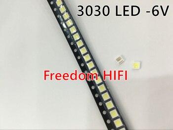 50 Uds. LED blanco de alto brillo 1W 3030 SMD, diodo 6V 150ma 110lm LED 1,8 W 3030 6V blanco frío