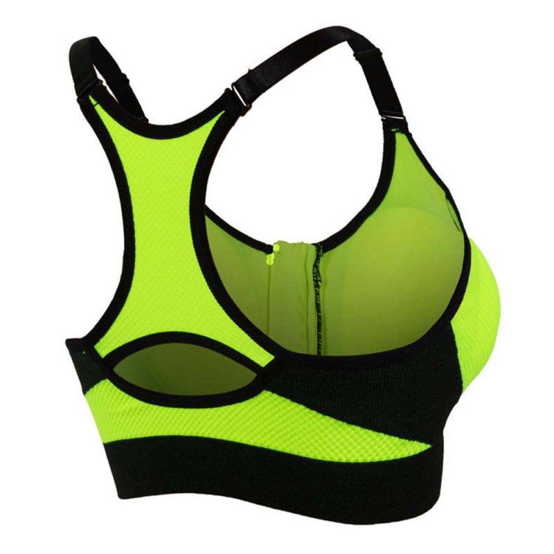 Women Sport Wire Free Bra Yoga Top Running Gym Workout Vest Front Zipper Fitness Sports Shirt Bras