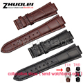 24*lug 14mm -18mm buckle watchband for T60 Genuine leather straps for men's Wrist watches band  bracelet