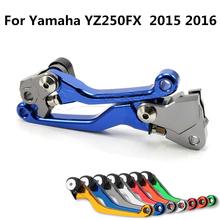 For Yamaha YZ80/85 2015 One Pair CNC Pivot Brake Clutch Levers Blue Freeshipping D10