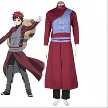 Anime Naruto Cosplay Gaara 7th Costumes Women/Men Halloween Costume for Party