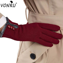 Women Winter Warm Gloves Female Fashion Screen Sensory Wrist Gloves for Women Hand Warmers Mittens Luva Inverno S-ST60115