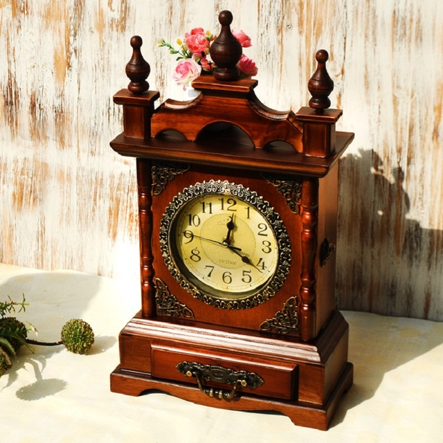 Antique Wooden Table Clock Table Design Ideas