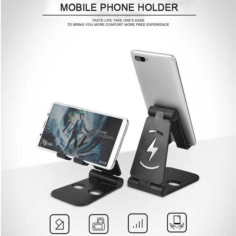 Yiwa Universal Foldable Desktop Desk Stand Holder Mount For Cell Phone Tablet Pad Phone Holder