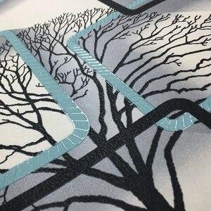 Image 5 - Biała, fioletowa, niebieska nowoczesna tapeta 3d do salonu tło pod telewizor dekoracja wnętrz kwadraty wzór tapeta w rolce