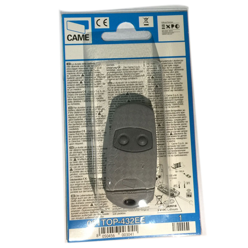 FOR CAME TOP432EE/TOP432NA remote control 433,92Mhz 2 button transmitter high quality tl432 to 92 432