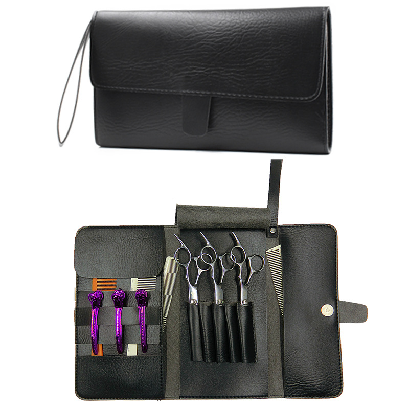 NEW Leather Hairdressing Tools Bags Hair Scissor Case Waist Pack Pouch Holder Hair Styling Tools Accessories Storage Cases