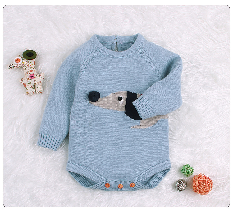 Baby Boy Girl Autumn Winter Clothes Long Sleeve Solid Color Knitted Warm Romper Jumpsuit Playsuit Newborn Clothes | Happy Baby Mama