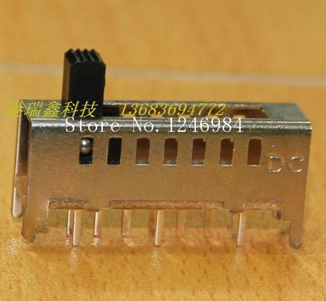 [Sa]小さなトグルスイッチ7速度dc垂直スライドスイッチdc電源スイッチSS-17E03-50ピース/ロット