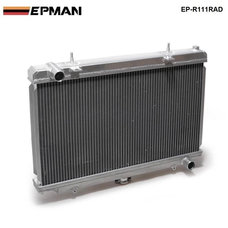 Performance 50mm 2 Row  Alloy Aluminum Radiator For Nissan Silvia S14 S15 SR20DET 240SX 200SX Manual EP-R111RAD