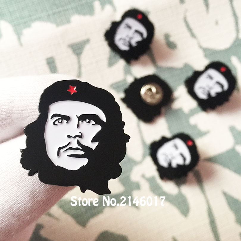 27.5mm Che Guevara Pins Rebel Enamel Badges Socialist Liberal Military Lapel Pin and Brooch Gift or Art Metal Craft