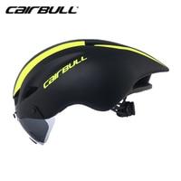 Neue CAIRBULL Aero TT Radfahren Helm Racing Rennrad Sicher Helm Mit Magnetische Brille Pneumatische Fahrrad Helm Casco Con Gafas-in Fahrradhelm aus Sport und Unterhaltung bei