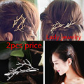 Free shipping! Gold plated Fashionable Branches Flower Geometric Hairpin Hairwear Hairband Princess Fairy Jewelry. Buy $10 cut$1
