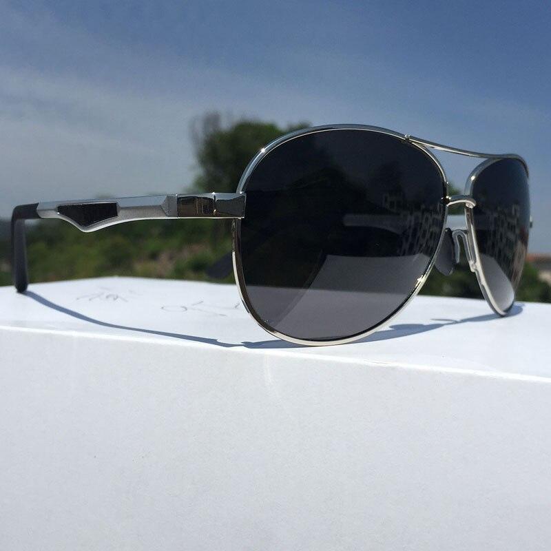 3c76c3d498 Gafas de sol polarizadas de aluminio de diseño de marca de lujo hombres  doble haz marco grande mujeres conducción piloto gafas de sol UV400
