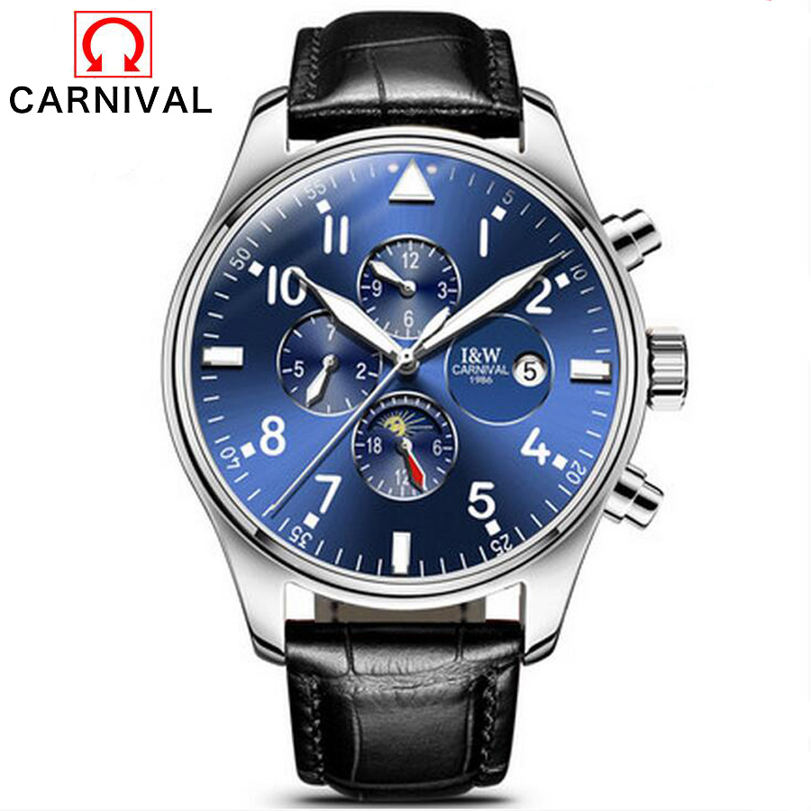 Mens Luxury Sapphire Watch Male Brand Watches Automatic Mechanical Clock Waterproof Genuine Leather Fashion Luminous Wrist watch sollen mens automatic mechanical watch diamond gold full steel sapphire waterproof luminous male luxury top brand watches reloj