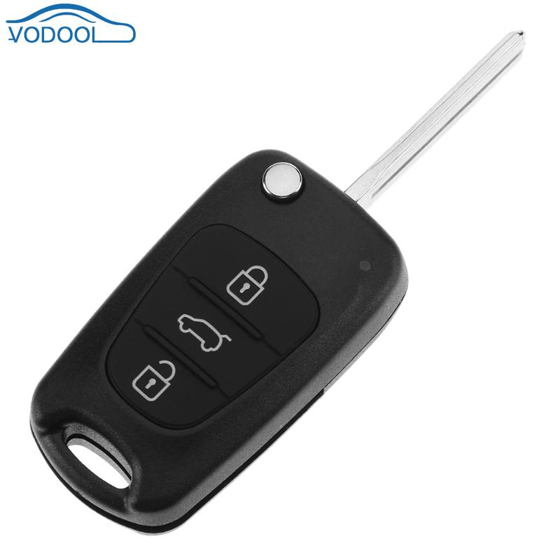 3 Button Folding Key Replacement Remote Shell Case for Hyundai i30 i20 Elantra Auto Replacement Parts Car-styling Accessaries