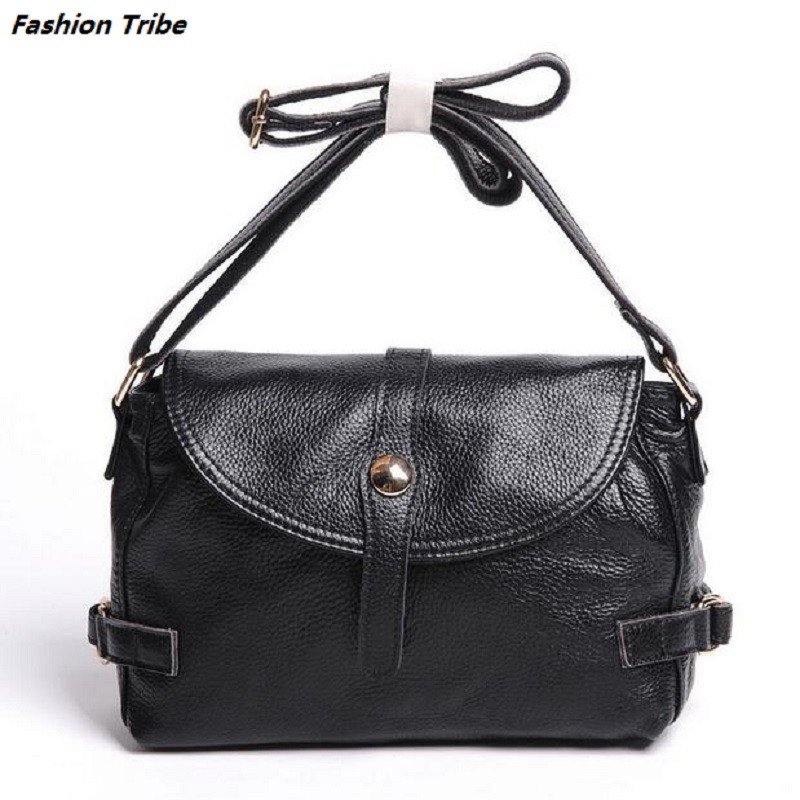ФОТО 6 Colors New 100% All Genuine Leather Women's Messenger Bag Women Handbag Satchel Shoulder Cross Body Bag Purse Tote Bolsas