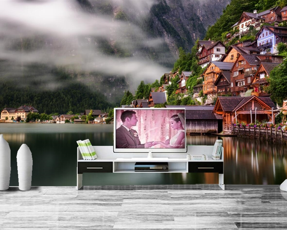 Coast Houses Lake City photo Building 3d wallpaper,living room tv sofa wall bedroom restaurant kitchen mural papel de parede custom photo wallpaper venice city building large mural wallpaper for the living room tv sofa bedroom wall pvc wallpaper