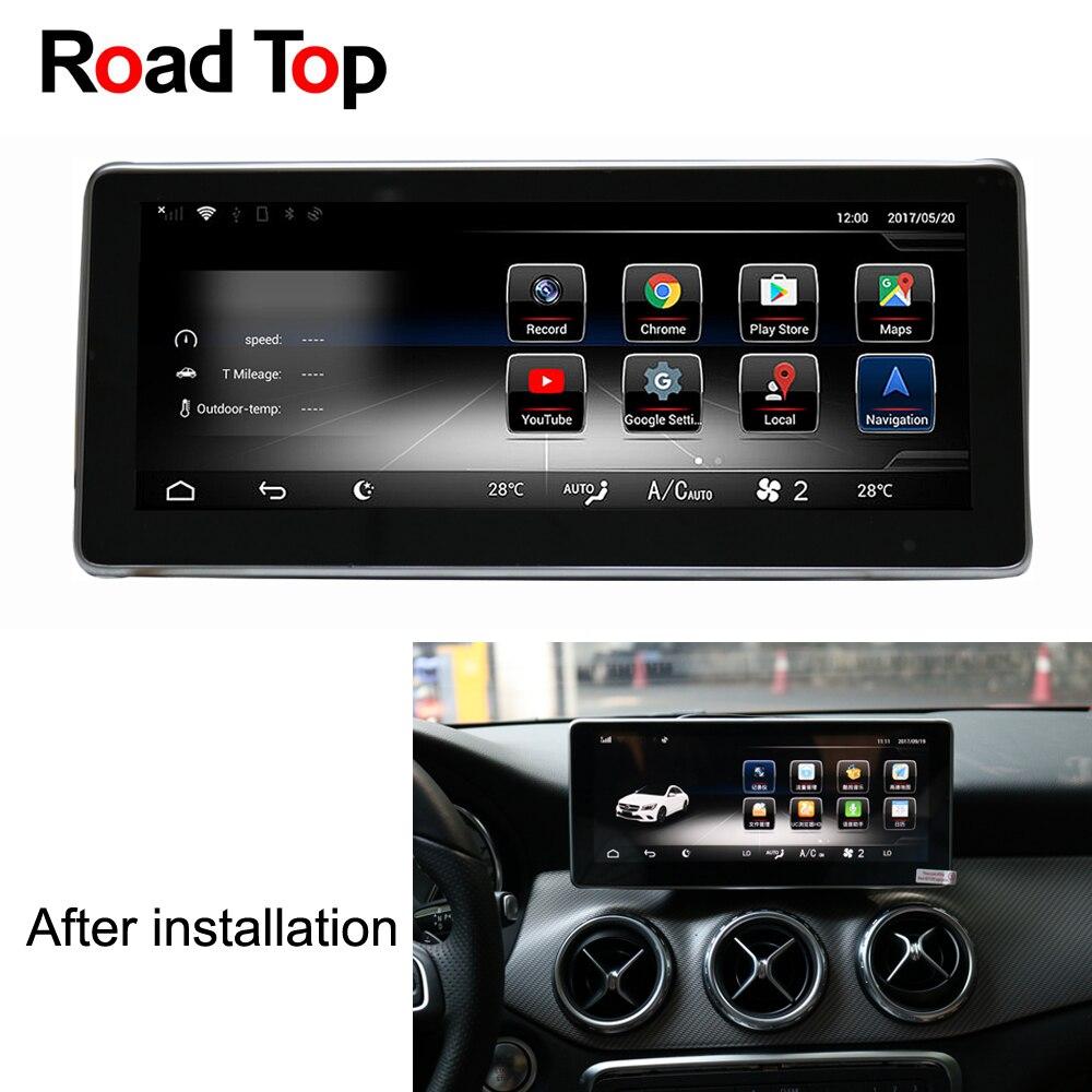 10.25 Android 7.1 Autoradio GPS Navigation Bluetooth WiFi Écran Unité de Tête pour Mercedes Benz GLA180 GLA200 GLA250 GLA220 GLA45
