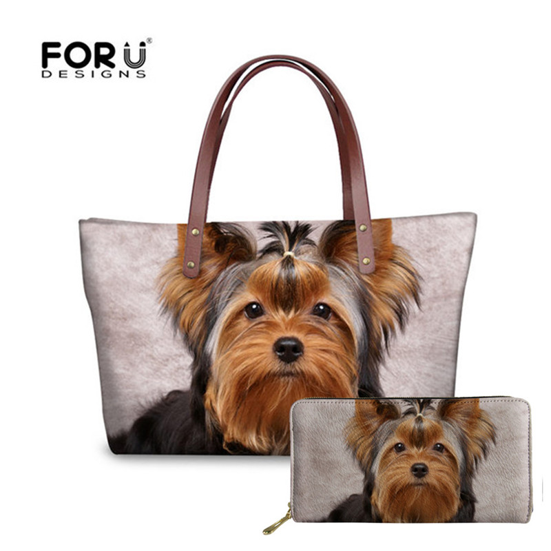 Yorkie Dog Canvas Tote Bag Pet Shopping Purse Beach Diaper Puppy Yorkshire