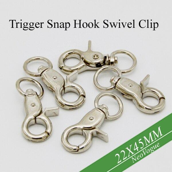 100 шт.-Platinum Plated Trigger защелки поворотные зажимы, тяжелые крючки для омаров, никелевый брелок защелки, тяжелый Поворотная застежка