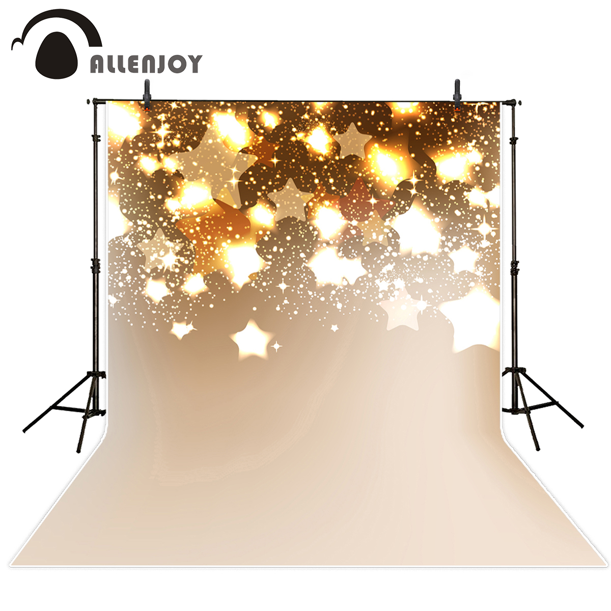 Allenjoy photography backdrops shiny golden star beautiful glitter backgrounds for photo studio photography background vinyl car rear trunk security shield shade cargo cover for nissan qashqai 2008 2009 2010 2011 2012 2013 black beige