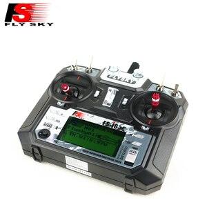 Image 2 - Flysky transmisor controlador para Dron de control remoto, dispositivo transmisor controlador de 10CH con receptor A8S, actualización i6 para helicóptero de radiocontrol, FS i6X FS I6X 2,4G