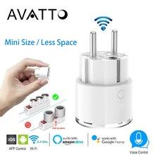 AVATTO, Wi-Fi, пульт дистанционного управления, умная вилка, 16А, мощность, энергия, монитор, умная розетка, ЕС, FR, розетки, работает с Alexa Google Home IFTTT