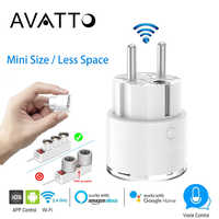 AVATTO Wifi Remote Control Smart Plug 16A Power Energy Monitor Smart Socket EU FR Outlets works with Alexa Google Home IFTTT