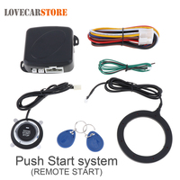 Universal 12V Auto RFID Car Alarm Security System Warded lock Anti-theft Push Start Stop Button System